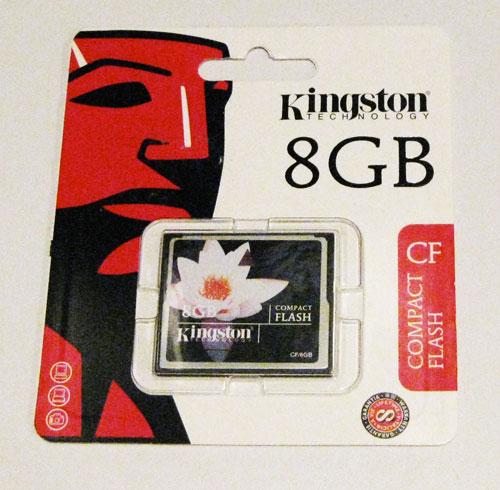 Cartão de Memória Compact Flash CF 8GB Kingston