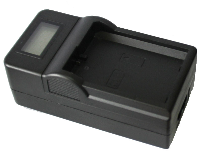 Carregador com LCD de Bateria Sony NP-FM50 NP-FM55H NP-FM500H NP-F550 NP-f570 NP-F750 NP-F770 NP-F960 NP-F970