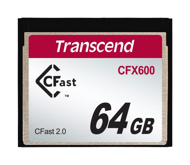 Cartão de memória INDUST TEMP CFAST CARD 64GB TS64GCFX600