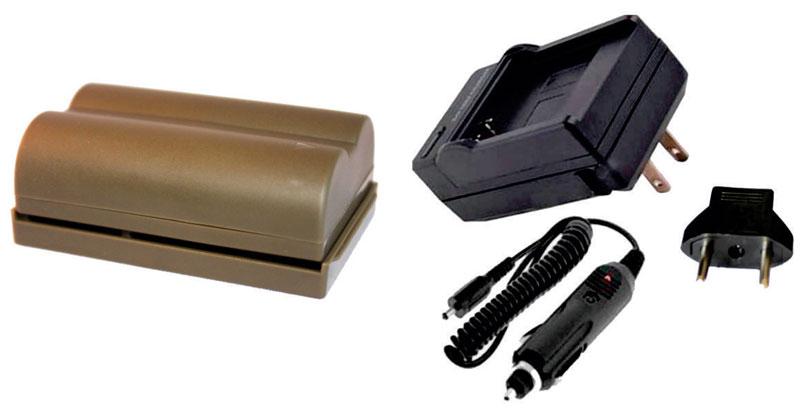 Kit Bateria BP-511A + carregador para câmera digital e filmadora Canon EOS Digital SLR 5D, EOS Digital Rebel, PowerShot G3