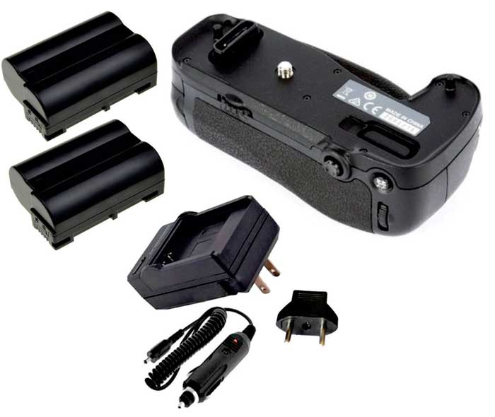 Kit Battery Grip MB-D16 para Nikon D750 + 2 Baterias EN-EL15 + Carregador