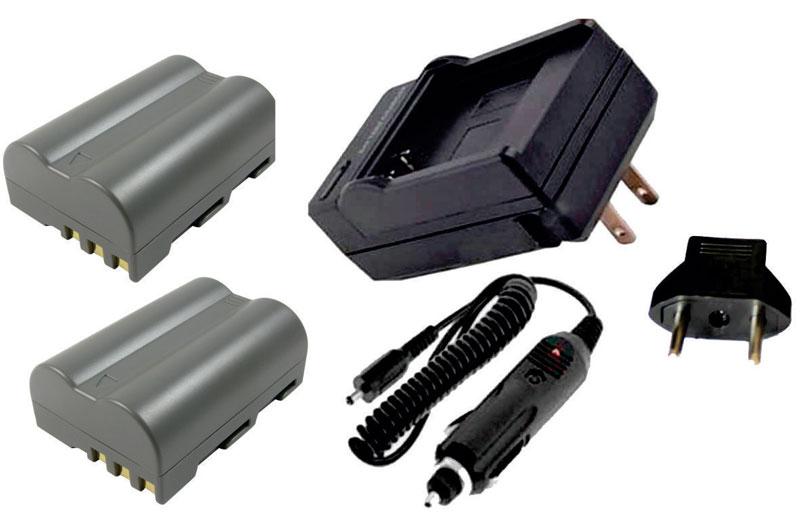 KIT 2 BATERIAS + CARREGADOR EN-EL3 para Nikon D50, D70, D80, D90, D100, D200, D300, D700