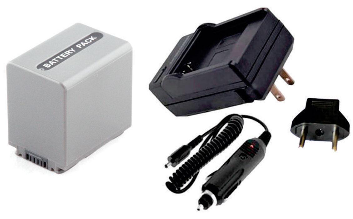 Bateria NP-FP90 para câmera digital e filmadora Sony + Carregador