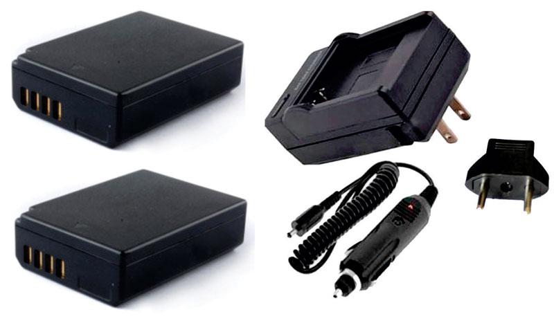 Kit 2 Baterias LP-E10 para Canon EOS Digital SLR 1100D, Rebel T3, KISS Digital X50