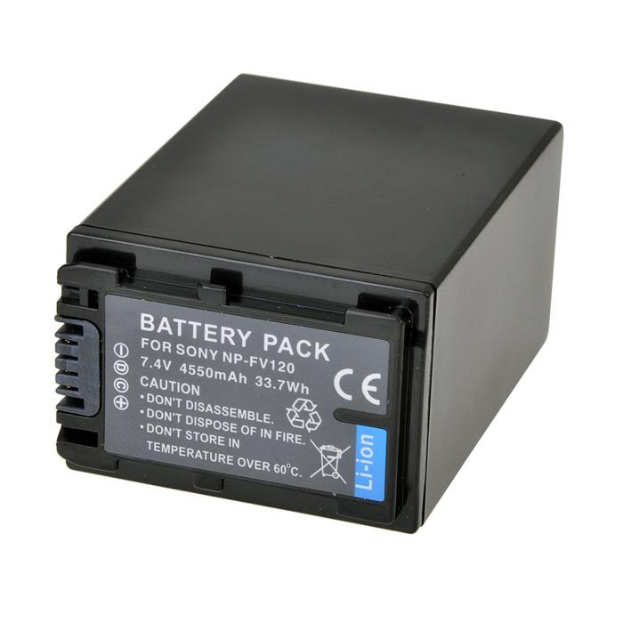 Bateria NP-FV120 para Sony HDR-XR160E, HDR-PJ50VE, DCR-SR77E, DCR-HC85E
