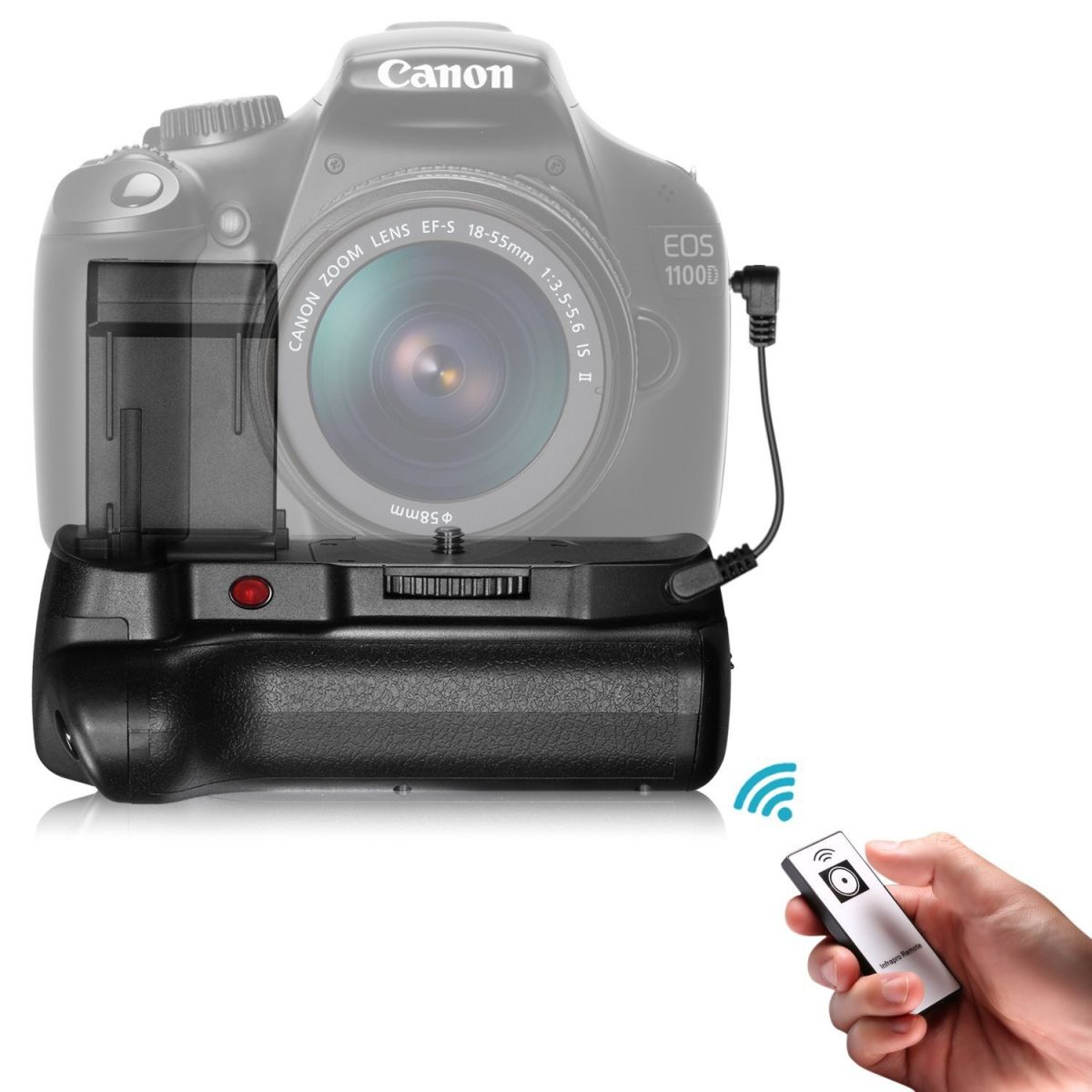 Battery Grip 1100DH para Canon EOS Rebel T5 T6 T7