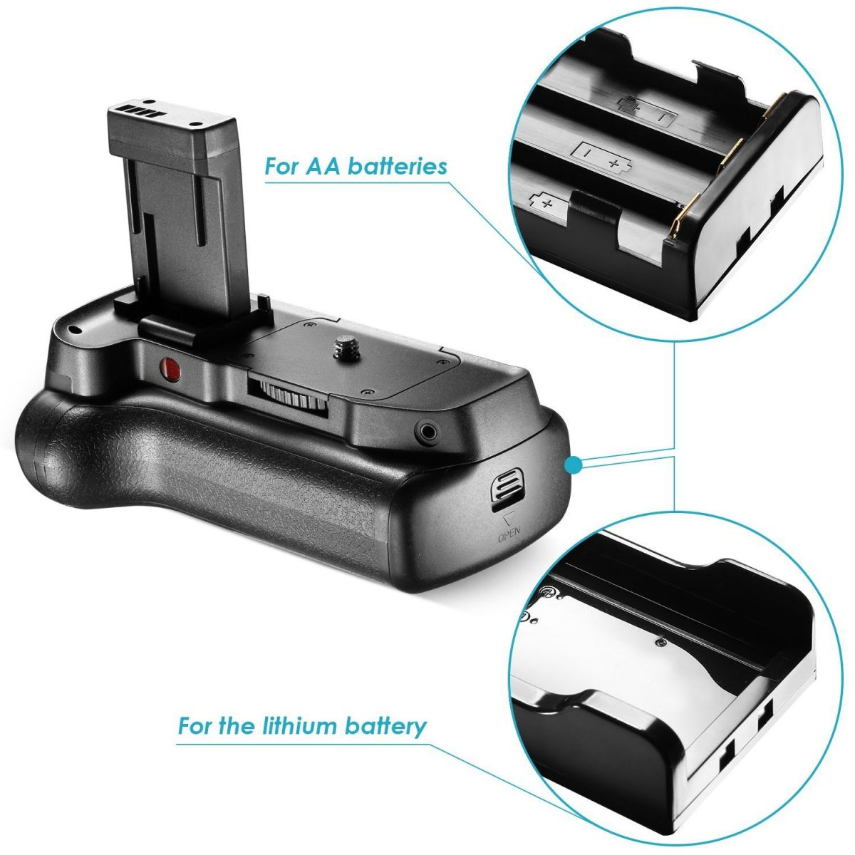 Battery Grip 1100DH para Canon EOS Rebel 1200D T5 1300D T6 Kiss X50 X70
