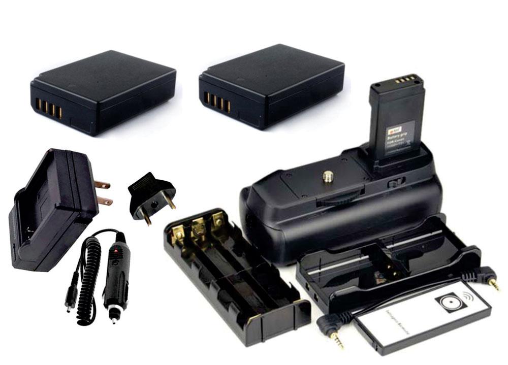 Kit Battery Grip 1100DH + 2 baterias LP-E10 + Carregador para Canon EOS Rebel T5 e T6