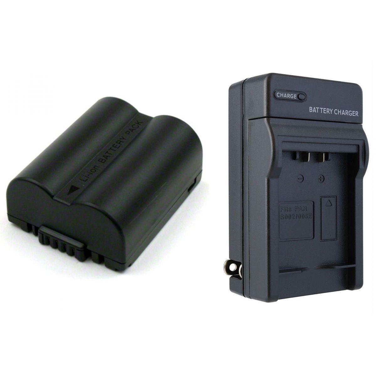 Kit Bateria CGA-S006E + Carregador para Panasonic Lumix DMC-FZ18, DMC-FZ30EG, DMC-FZ7BS, DMC-FZ8