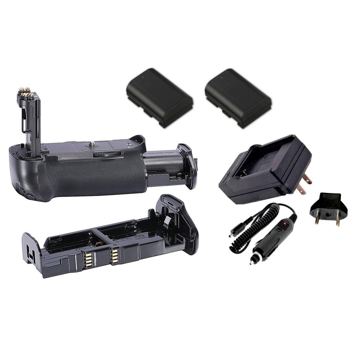 Kit Battery Grip BG-E16 + 2 Baterias LP-E6 + Carregador para câmera Canon EOS 7D Mark II
