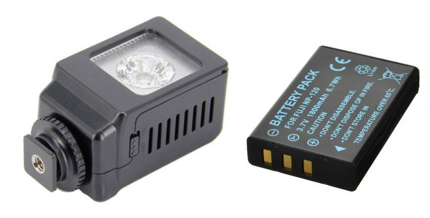Iluminador de LED Profissional LED-VL013 + bateria NP-120