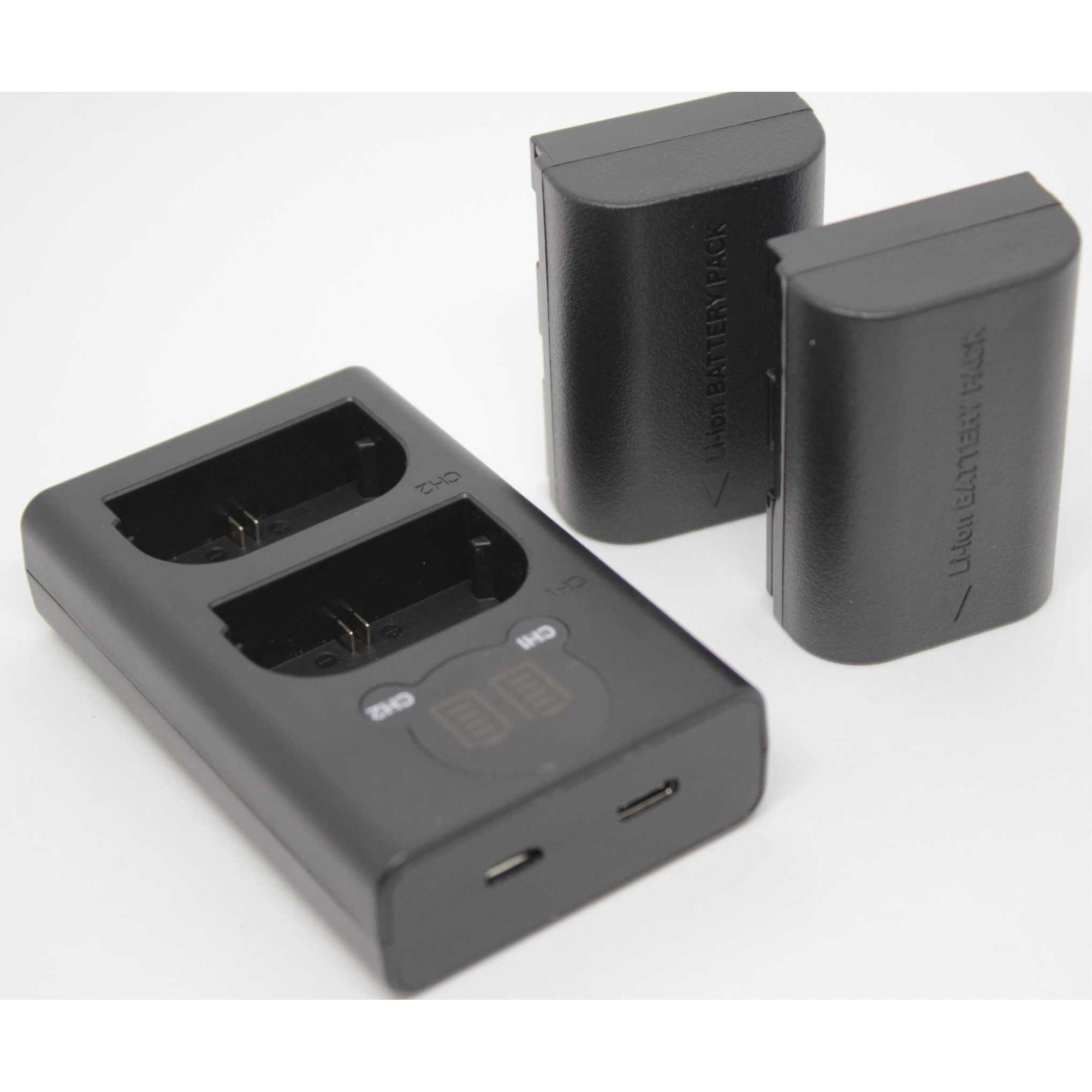 2 Baterias + Carregador Duplo LP-E6 para CANON
