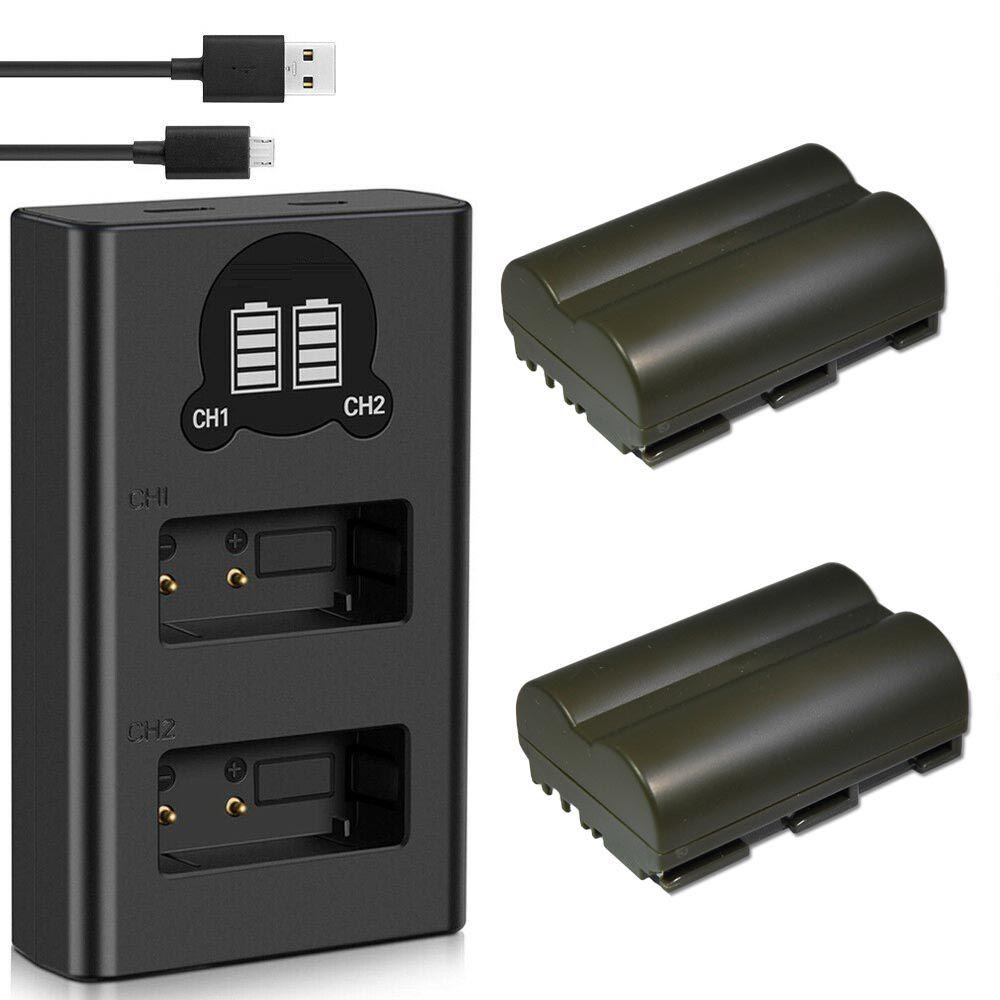 2 Bateria + carregador Duplo BP-511 para CANON 511A/512A/522/535