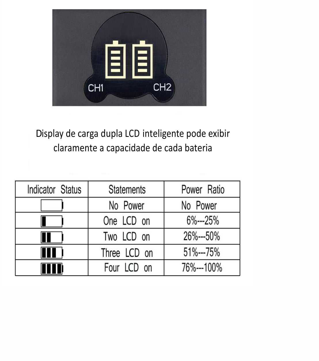 2 Baterias + Carregador Duplo DMW-BLF19 para Panasonic