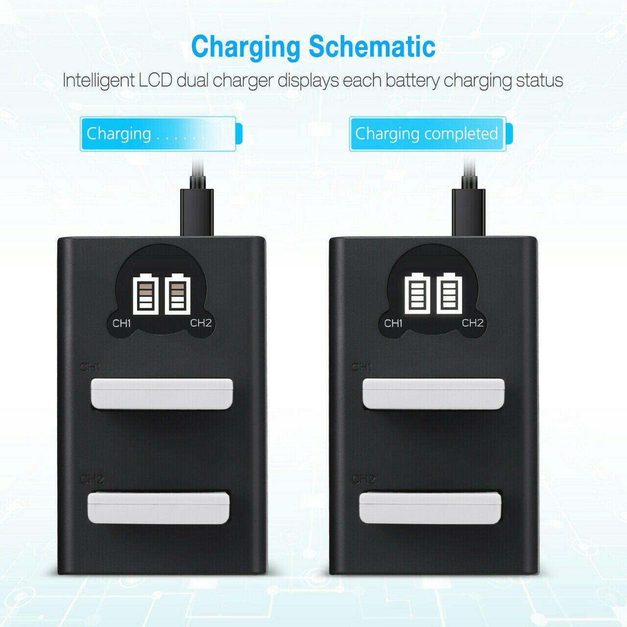 2 Baterias + Duplo Carregador DL EN-EL3 PARA NIKON D50, D70, D80, D90, D100, D200, D300, D700