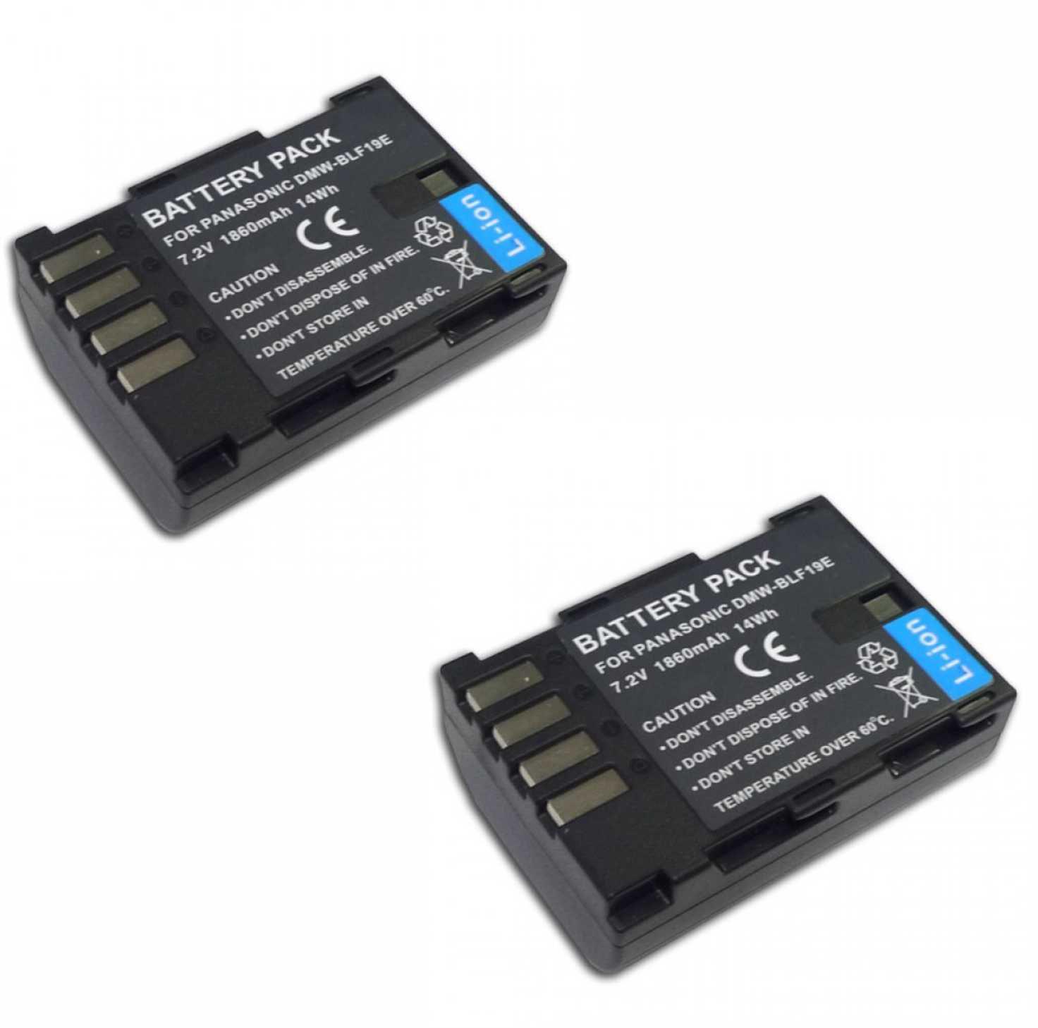 2 Baterias DMW-BLF19E para câmera Panasonic GH3 e GH4
