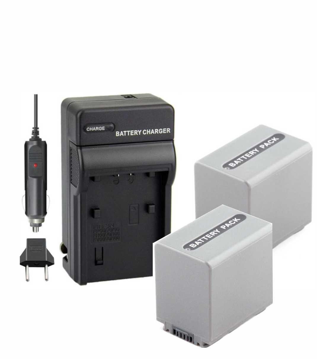 2 Baterias NP-FP90 para câmera digital e filmadora Sony + Carregador