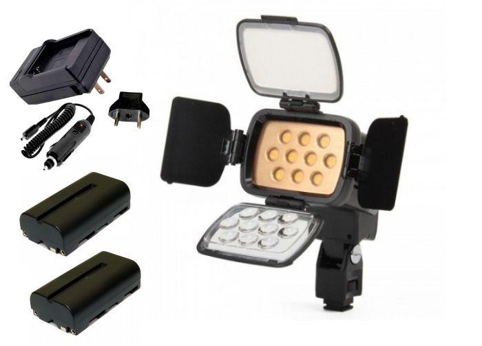Kit Iluminador de LED Profissional LED-VL001B + 2 Baterias NP-F550 + Carregador