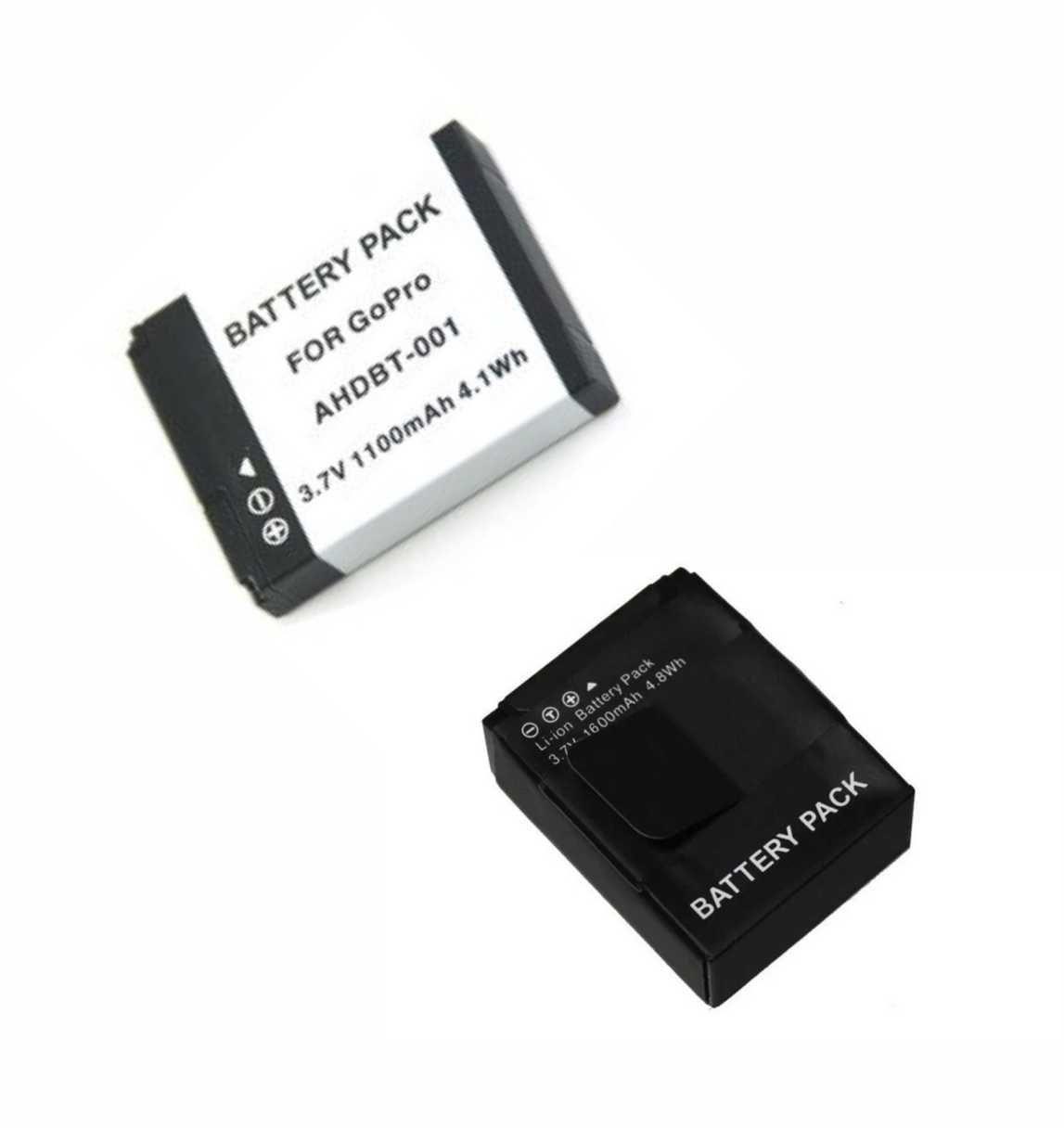 Bateria  AHDBT-001 + AHBT-301 Para GOPRO