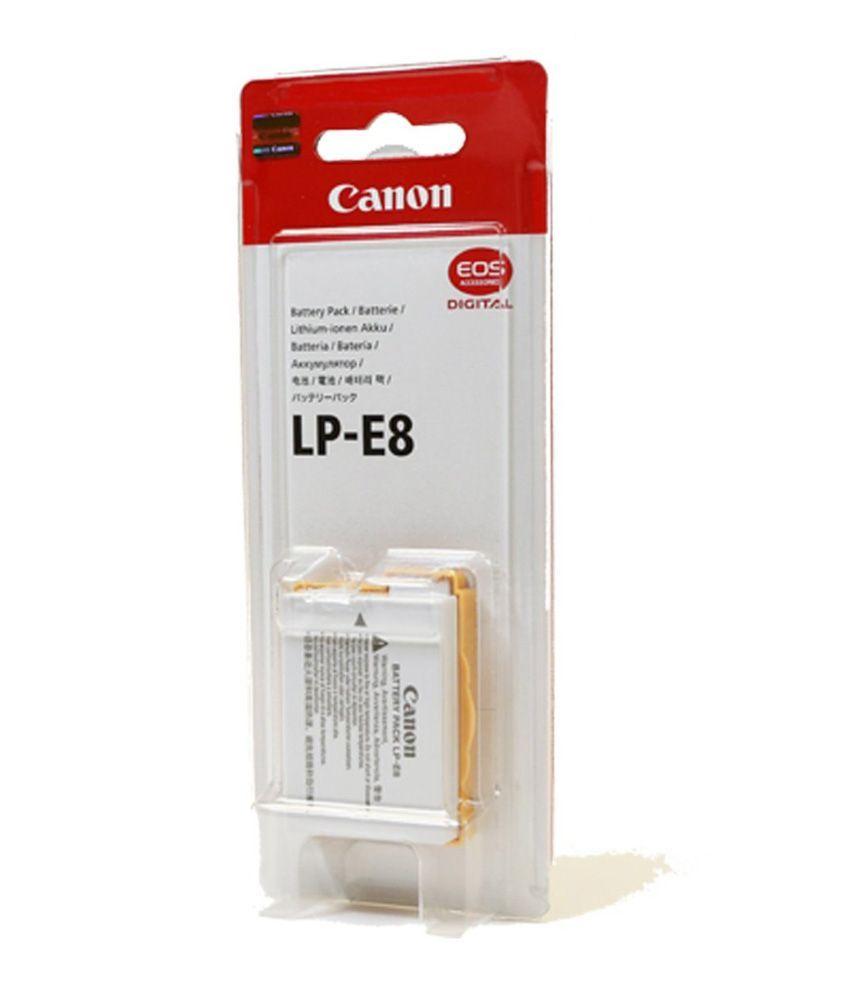 Bateria LP-E8 ORIGINAL CANON para EOS Digital Rebel T2i, T3i, EOS digital SLR 550D, EOS KISS Digital x5