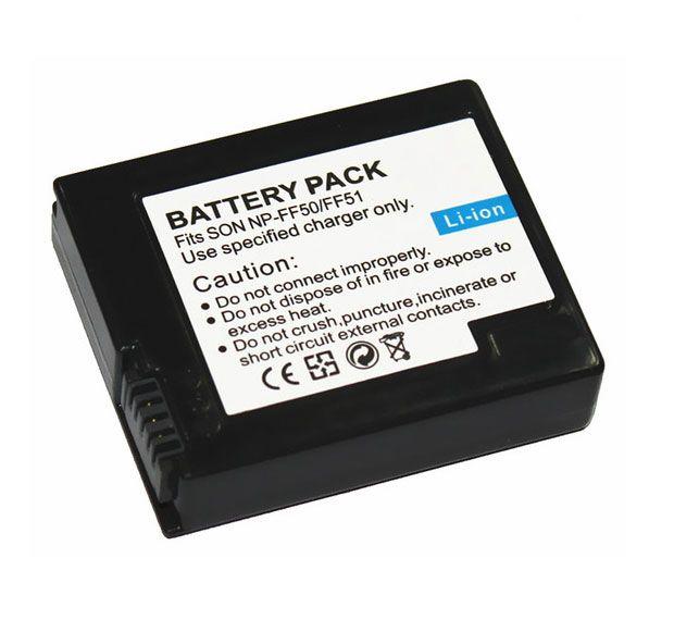 Bateria NP-FF50 NP-FF51 para câmera Sony