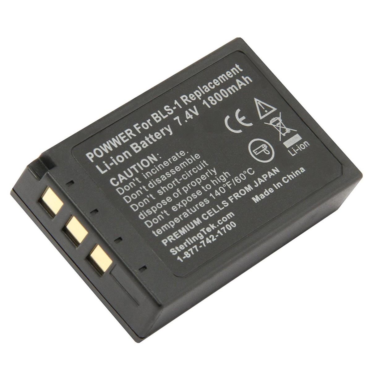 Bateria PS-BLS1 para câmera digital Olympus E-400, E-600, E-PL1 entre outras