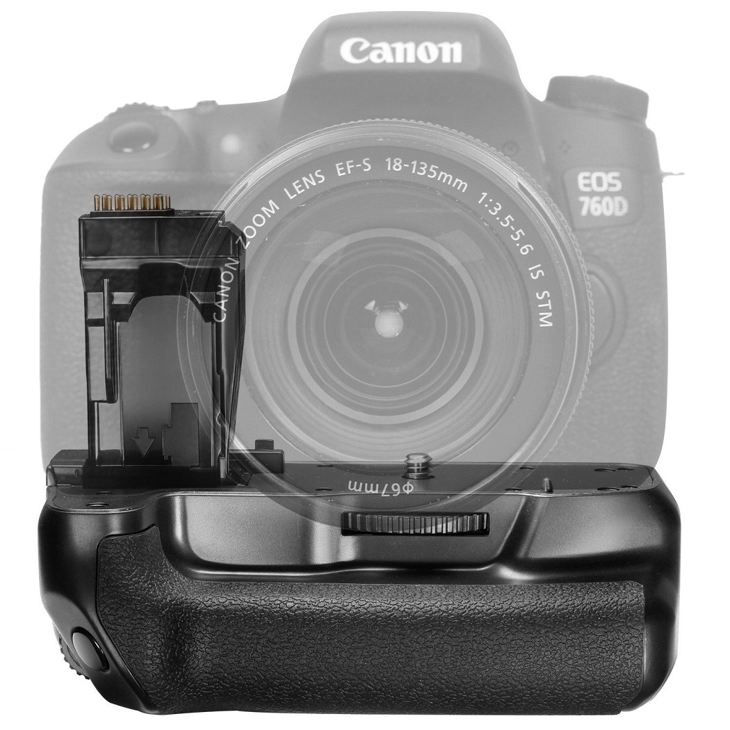 Battery Grip BG-E18 para câmera Canon T6i T6S 760D 750D 8000D X8i