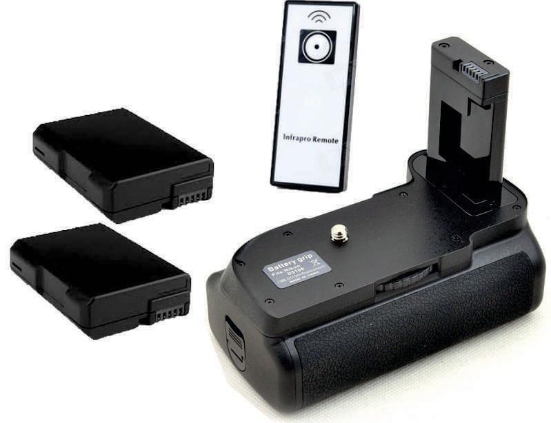 Battery Grip MB-D5100 para Nikon D5100 D5200 + 2 baterias EN-EL14