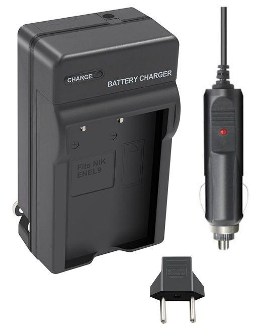 Carregador de Bateria EN-EL9 para Nikon D40, D40 SLR, D40X, D60, D3000, D5000