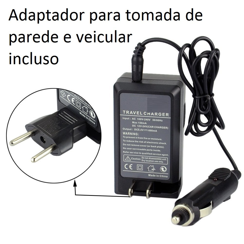 Carregador de Bateria NB-6L para Canon e Samsung SLB-10A SLB-11A para Digital Ixus 85 IS, IXY Digital 25IS, PowerShort SX500