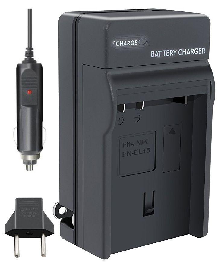 Carregador de Bateria NIKON EN-EL15 para Nikon D7000 D7100 D7200 D7500 D600 D800