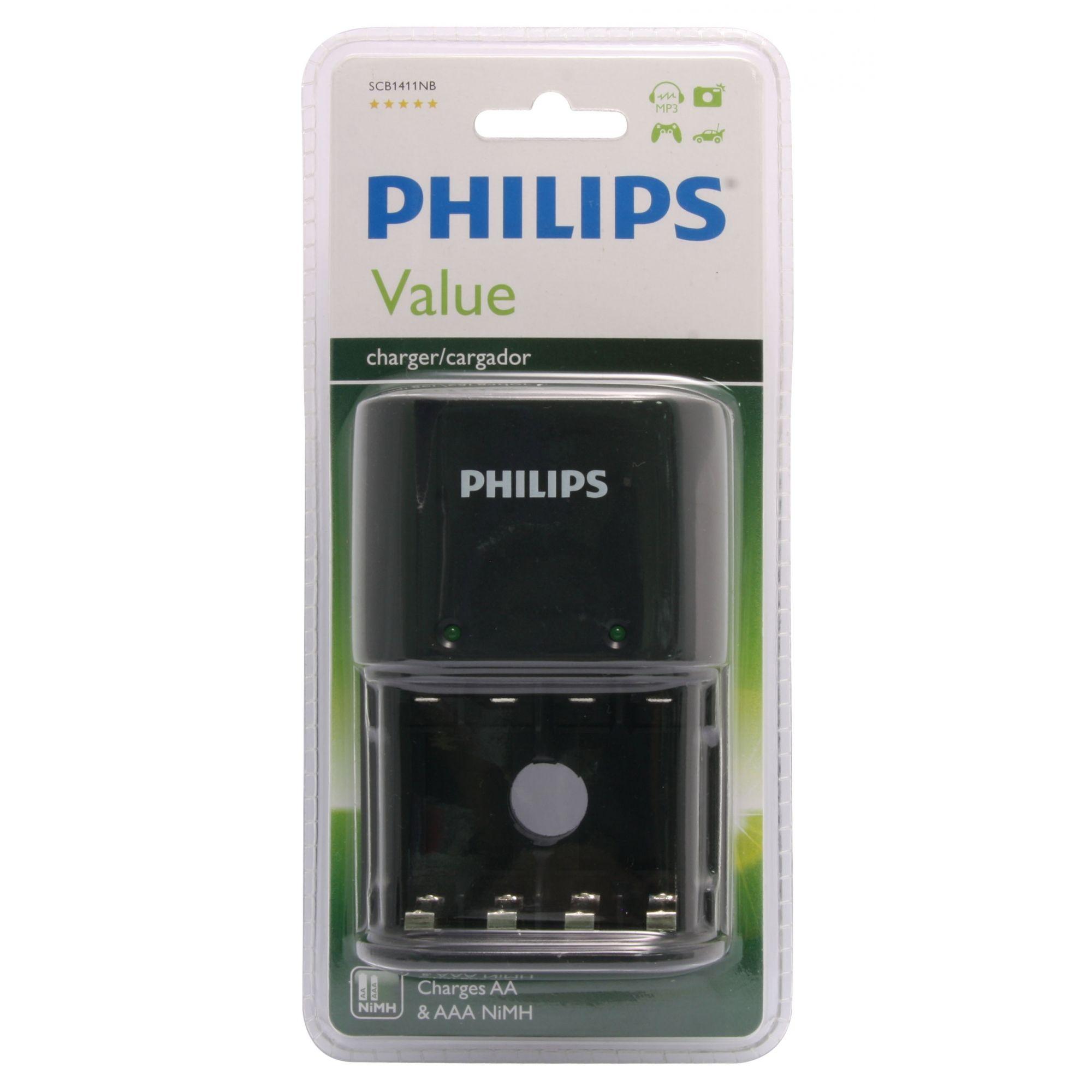 Carregador de Pilha Philips AAA/AA SCB-1411
