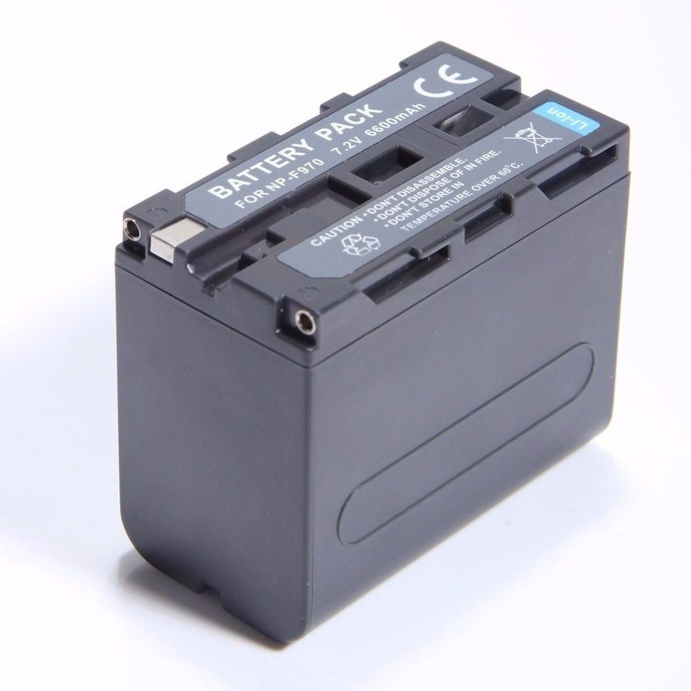 CARREGADOR LCD BC-F970A + BATERIA NP-F970 Para SONY