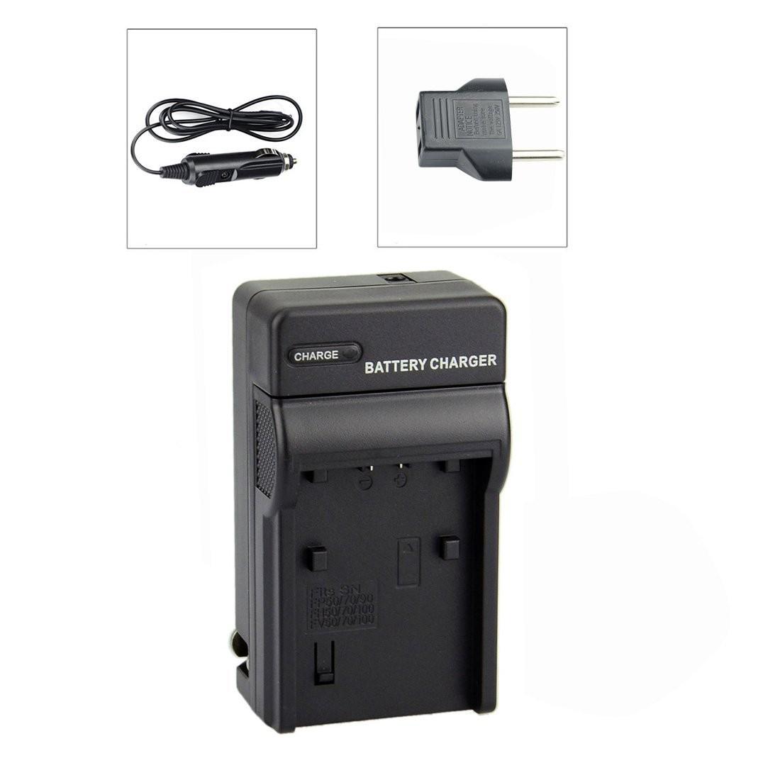 Carregador para Sony NP-FP50 NP-FP70 NP-FP90; NP-FH50 NP-FH70 NP-FH100; NP-FV50 NP-FV70 NP-FV100;FP51/51D,FP71/71D, FP91/91D,