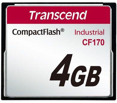 Cartão de memória Compact Flash CF Transcend 4GB 170X Industrial