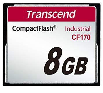 Cartão de memória Compact Flash CF Transcend 8GB 170X Industrial
