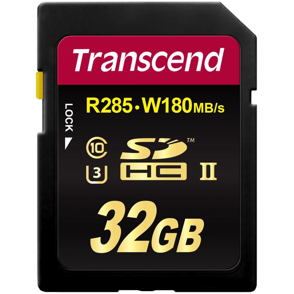Cartão de Memória SDHC 32GB Transcend Classe 10 Ultimate UHS-1 R285MB/s W180MB/s