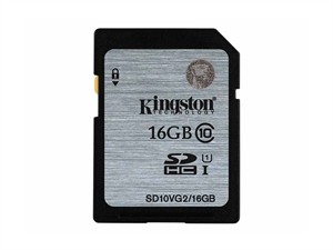 Cartão de memória SDHC Kingston 16GB classe 10