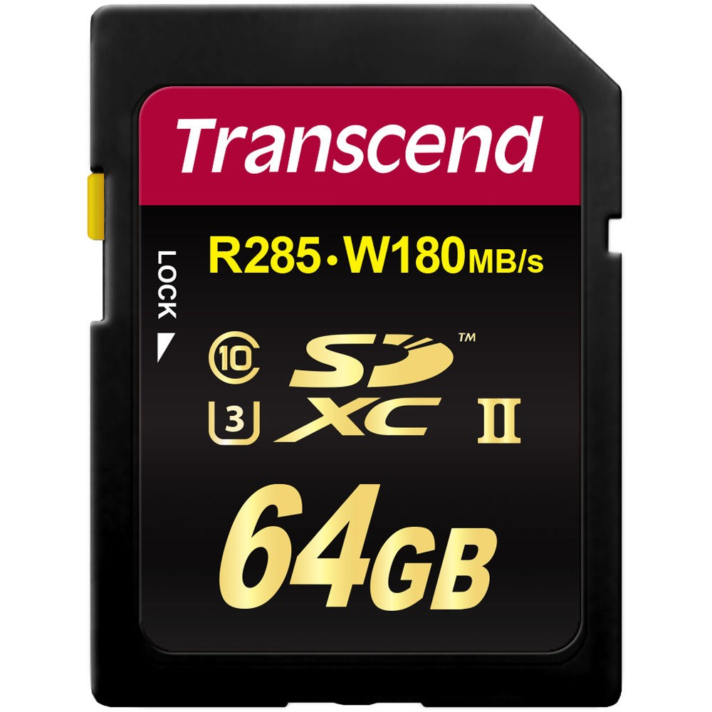 Cartão de Memória SDXC 64GB Transcend Classe 10 Ultimate UHS-1 R285MB/s W180MB/s