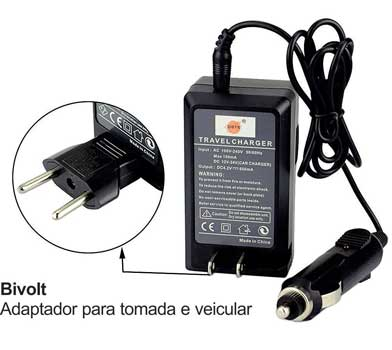 Kit 1 Bateria BP-828 + Carregador BP-827 Para CANON