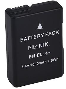 Kit 1 Bateria En-el14 Para Nikon + 1 Bateria EN-el15 para Nikon
