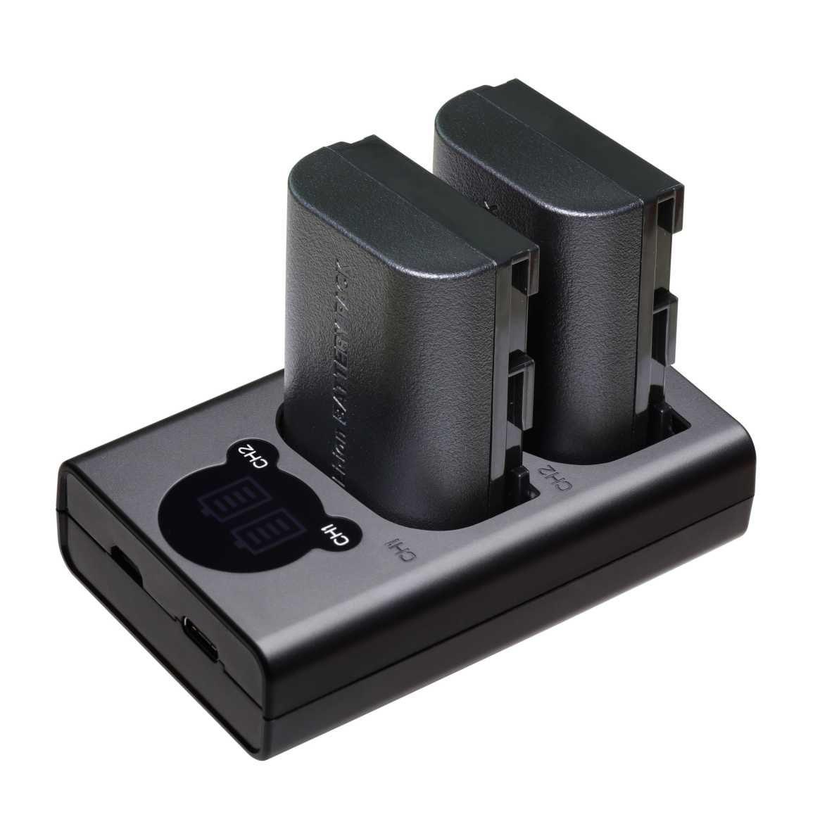 2 Baterias + Carregador Duplo FW50 para Sony