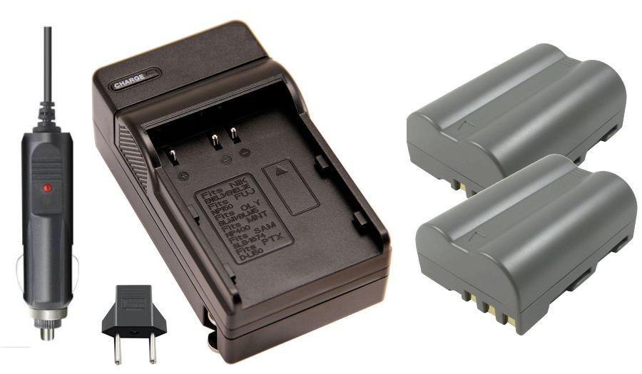 KIT 2 BATERIAS + CARREGADOR EN-EL3e+ para Nikon D50, D70, D80, D90, D100, D200, D300, D700