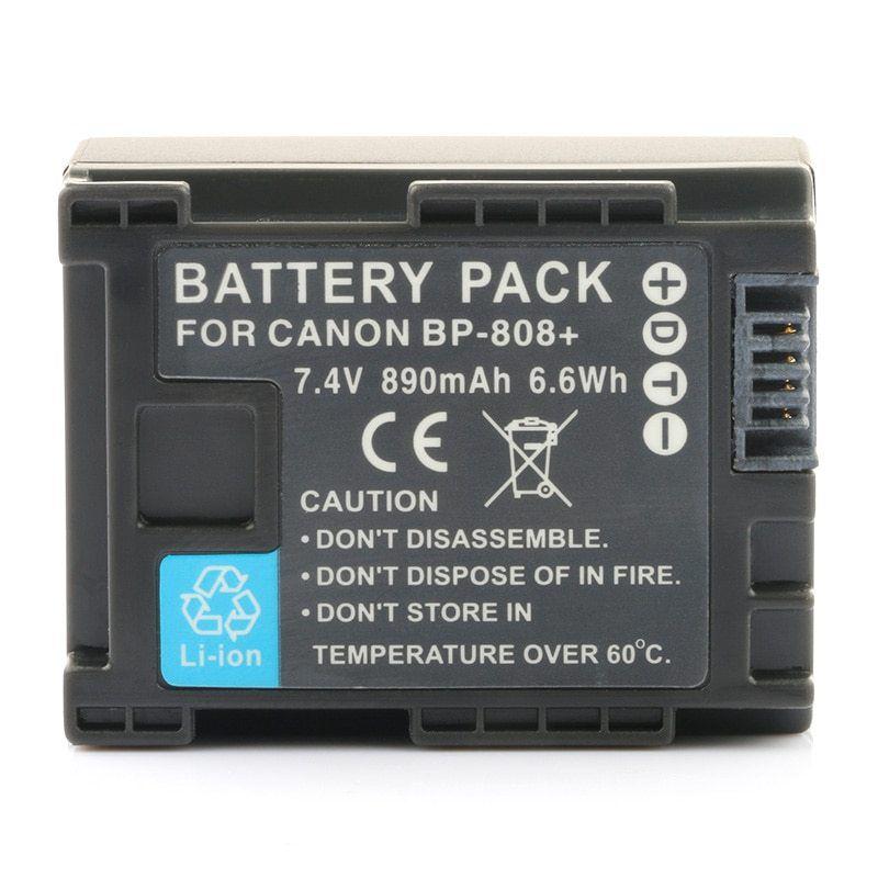 Kit Bateria BP-808 + Carregador para Canon HF-10, HF-G20, HF-M30, HF-S100