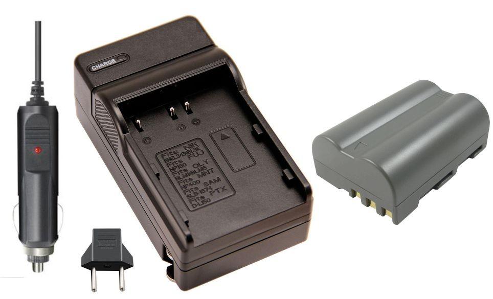 KIT BATERIA + CARREGADOR EN-EL3 para Nikon D50, D70, D80, D90, D100, D200, D300, D700