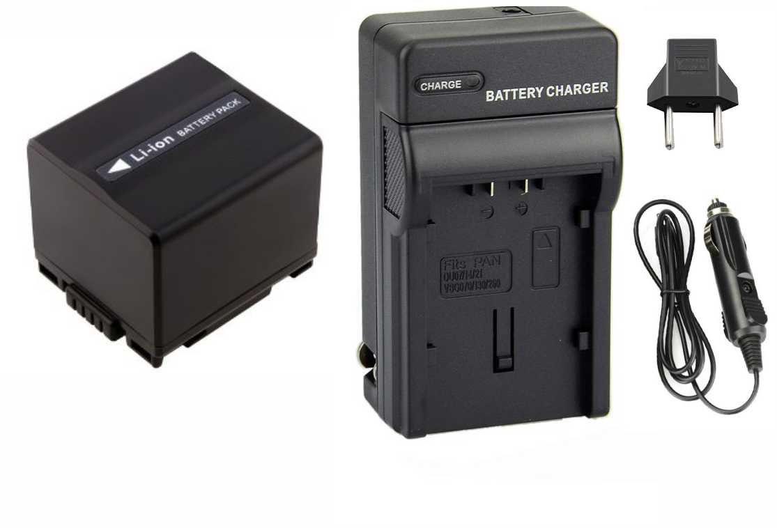 Kit Bateria CGA-DU21/VW-VBD210 + Carregador para Panasonic NV-MX500A, NV-GS37EG-S, PV-GS19, SDR-H20EB-S, VDR-D150