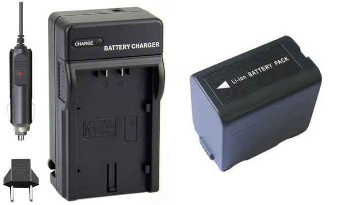 Kit Bateria CGR-D28S + carregador para Panasonic NV-MX500A, NV-GS37EG-S, PV-GS19, SDR-H20EB-S, VDR-D150