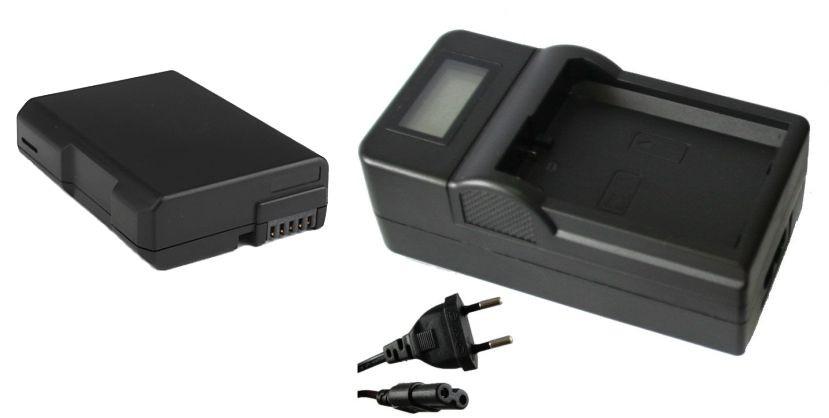 Kit Bateria EN-EL14 + carregador para Nikon SLR P7000, D3100, D3200, D5100, P7100