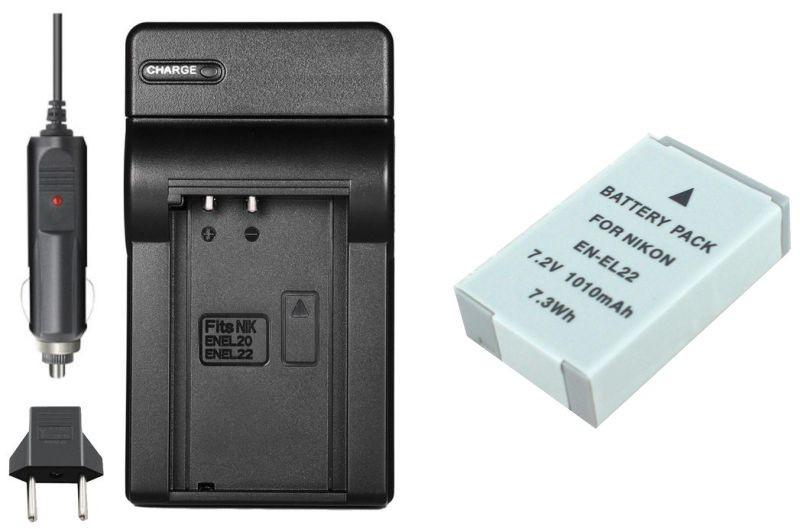 Kit Bateria EN-EL22 + Carregador para Nikon 1 J4