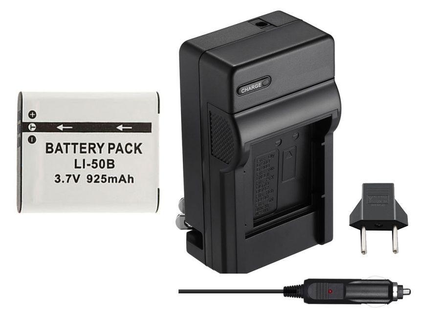 Kit Bateria Li-50B + carregador para câmera digital e filmadora Olympus SP-800, SZ30, Tough TG-610, u 9010, u (micro) Digital 1010